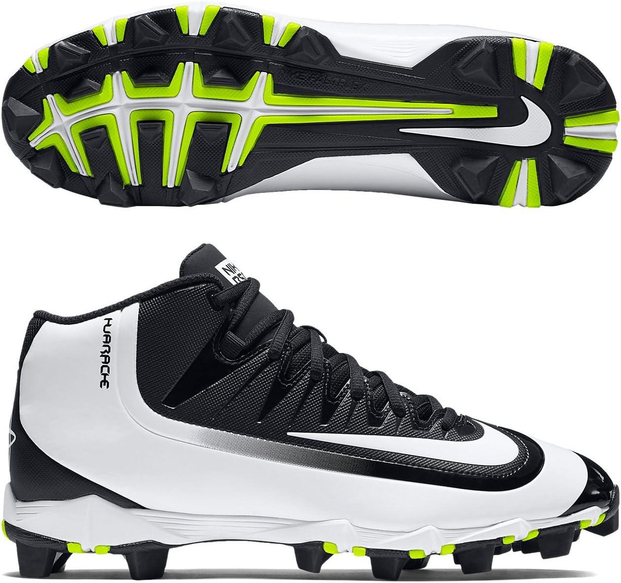 Nike New Mens Huarache 2KFilth Keystone Mid Baseball Cleat Black/White Sz 13 M