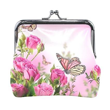 COOSUN Flor de Mariposas de Cuero Hermosa Flores Rosas ...