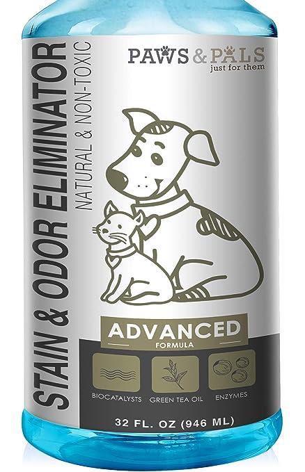 Pet Stain Enzyme Cleaner and Odor Eliminator - 32oz Spray Dog Urine Remover for Carpet Rug
