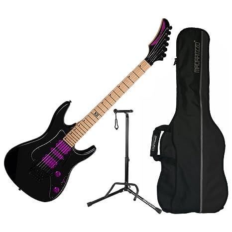 Dean Jacky Vicente jcvx Classic soporte de guitarra eléctrica (con funda y negro