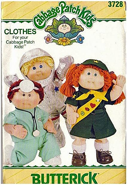 Cabbage Patch Kids Doll Clothing Sewing Pattern Accessories Bib Butterick 374