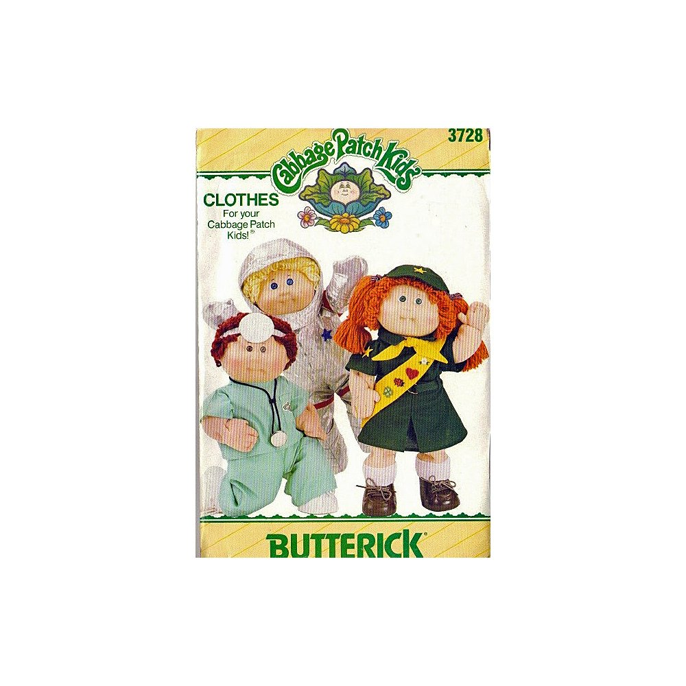 Amazon Cabbage Patch Kids Career Outfits Butterick 3728 Sewing