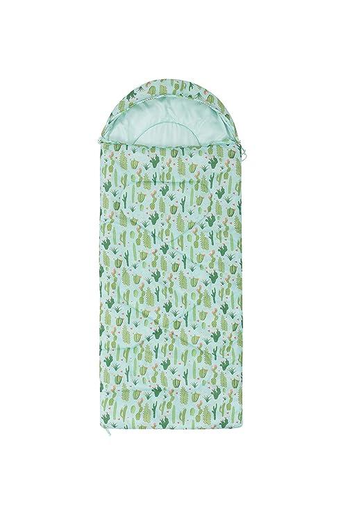 Mountain Warehouse Minisaco de Dormir Estampado Apex para niños - Tipo Momia - Peso Ligero, con Aislamiento de Fibra Hueca - para acampadas con niños Cactus ...
