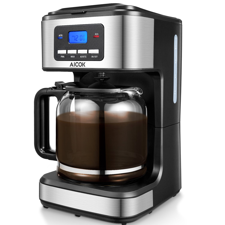 Amazoncom Aicok Coffee Maker 12 Cups Programmable Drip Coffee