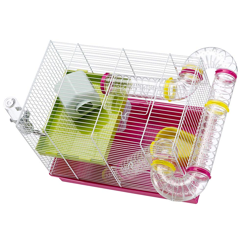 Ferplast Luara Small Hamster Cage | Fun & Interactive Cage Measures Measures 18.11L x 11.61W x 14.8H & Includes All Accessories by Ferplast (Image #11)
