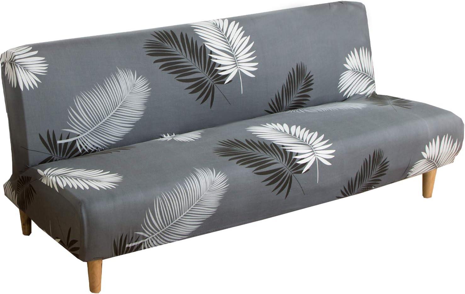 Meicynhoger Funda para sofá cama sin brazos, funda elástica para sofá cama plegable de 2 plazas/3 plazas sin reposabrazos (L,A)