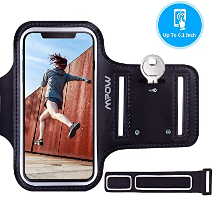 673de7dc0644f Mpow Cell Phone Armband for iPhone Xs X 8 7, Samsung Galaxy S10/S9/J5/J3  【Up to 6.1 Inch】, Sweatproof Sports Running Armband with Key Holder & ...