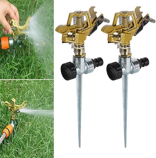 Sistema de riego de jardín 2pcs Rociador de jardín Spike Lawn ...