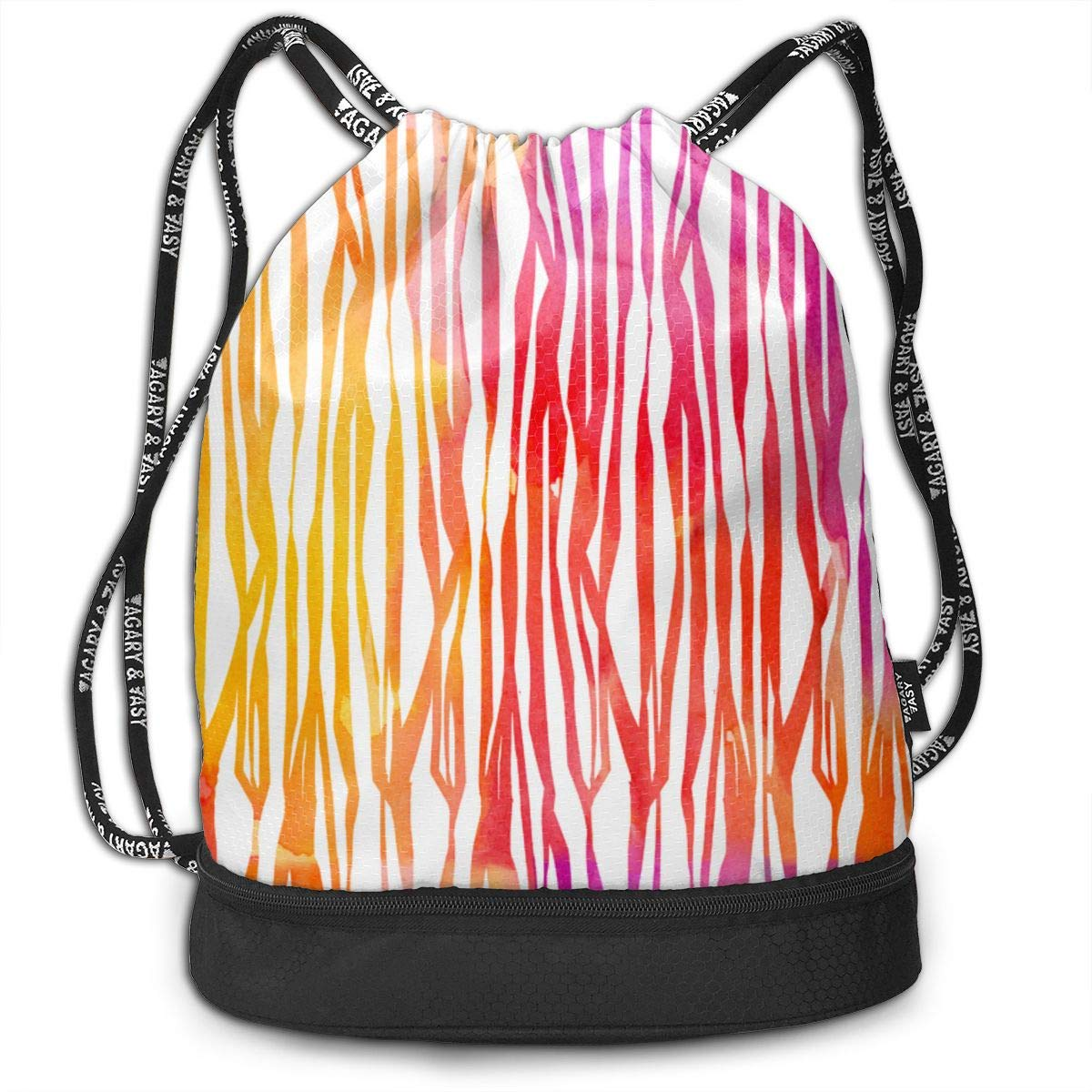 Shoes Drawstring Backpack Sports Athletic Gym Cinch Sack String Storage Bags for Hiking Travel Beach