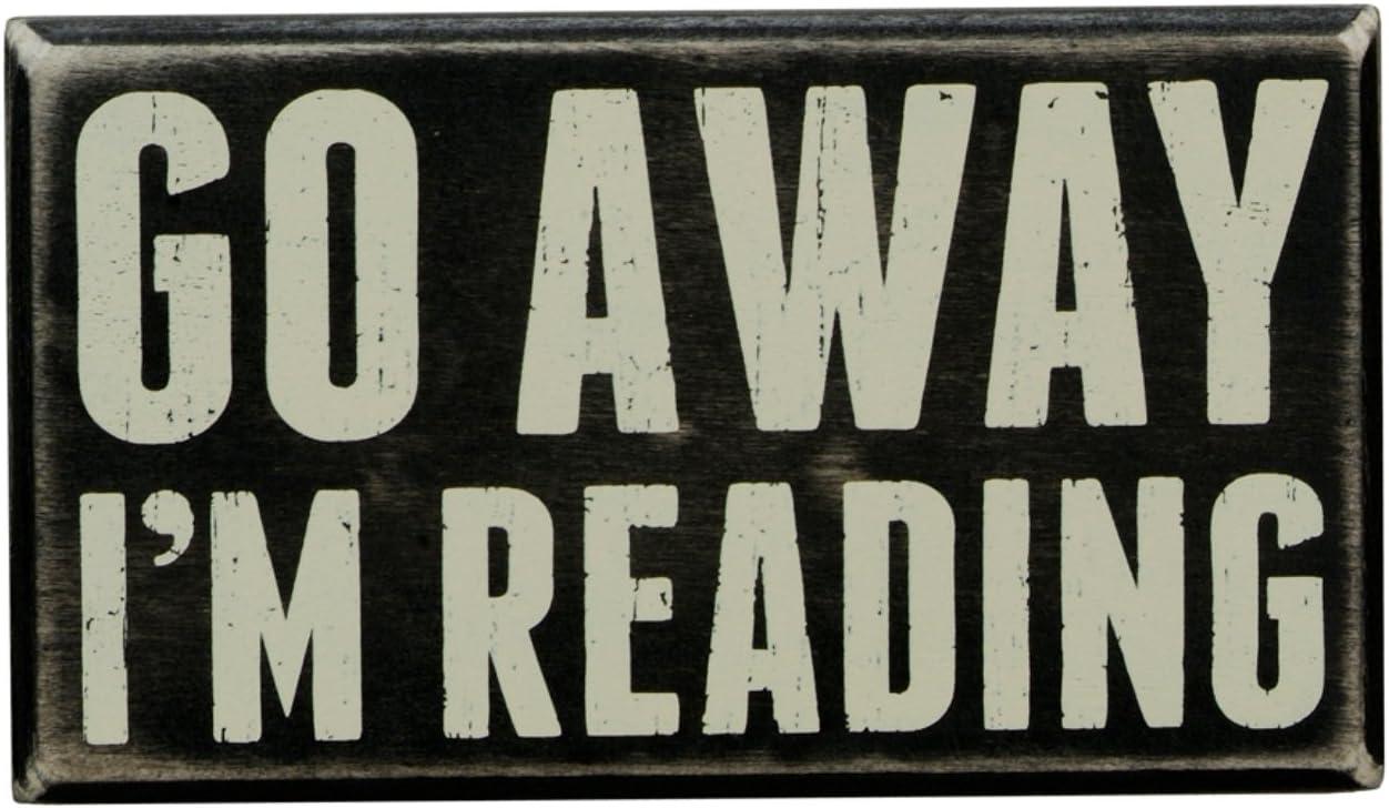 Im Reading 7 x 4 I/'m Reading 7 x 4 Primitives by Kathy 19422 Box Sign