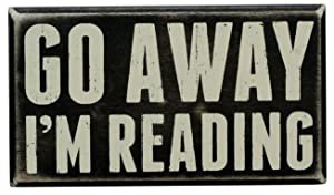 "Primitives by Kathy 19422 Box Sign, 7"" x 4"", I'm Reading"