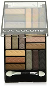 L.A. Colors 18 Color Eyeshadow Palette, Downtown Brown, 0.70 Ounce