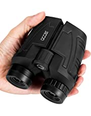 Occer 12x25 Compact Binoculars with Low Light Night Vision, Large Eyepiece High Power Waterproof Binocular Easy Focus for Outdoor Hunting, Bird Watching, Traveling, Sightseeing Fit for Adults and Kids