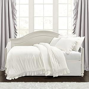 Lush Decor Reyna 6 Piece Daybed Comforter Set, White