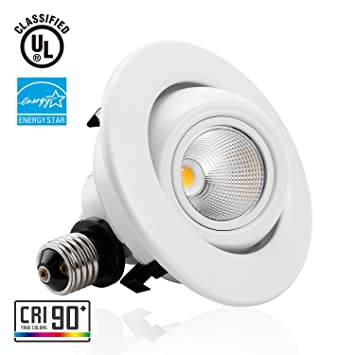 TORCHSTAR #High CRI90+# 4 Inch Dimmable Gimbal Recessed LED Downlight, 10W  (75W