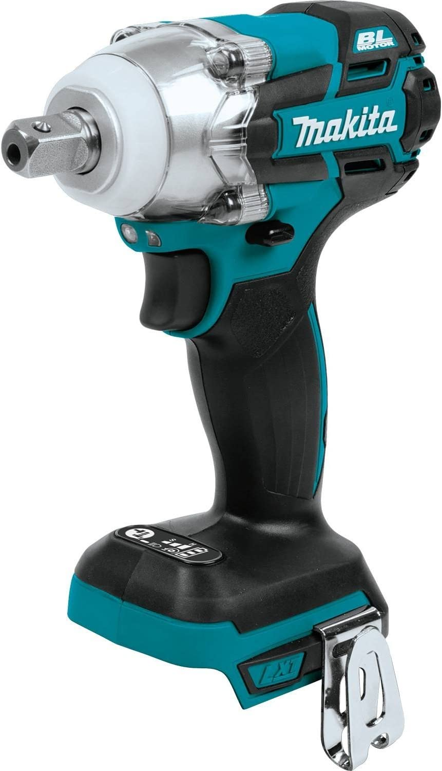 Makita XWT11Z 18V LXT Lithium-Ion Brushless Cordless 3-Speed 1 2 Sq. Drive Impact Wrench, Tool Only