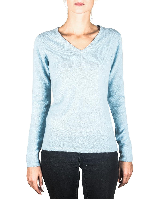 XS-XXL Maglione con Scollo a V da Donna 100/% Cachemire CASH-MERE.CH Pullover Sweater