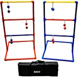 Sports Festival Premium Ladder Ball Toss Game Set with 6 Bolas and Carrying Case Outdoor Back Yard Games For Family Reunion Fun