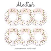 Modish Labels Baby Nursery Closet Dividers, Closet Organizers, Nursery Decor, Baby Girl, Pink, Gold, Confetti