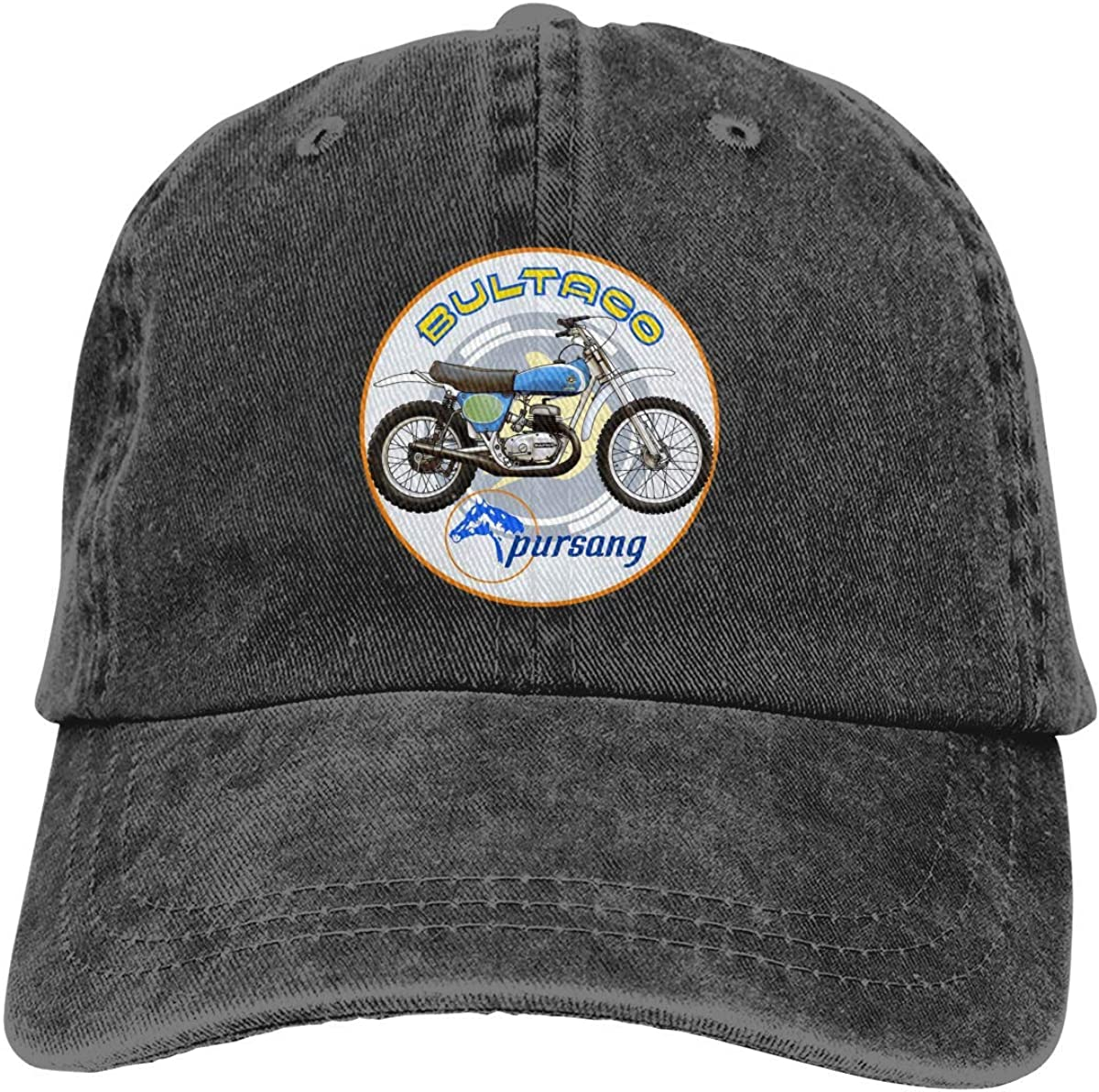 HFMVU Casqueta Unisex Plincally Bultaco Pursang Classic Casquette Baseball-Caps Black Cotton Adjustable Unisex Sombrero Gift