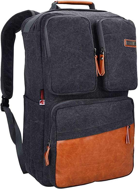 Witzman Men Retro Canvas Backpack Travel Rucksack Casual Duffel Bag Amazon Ca Luggage Bags