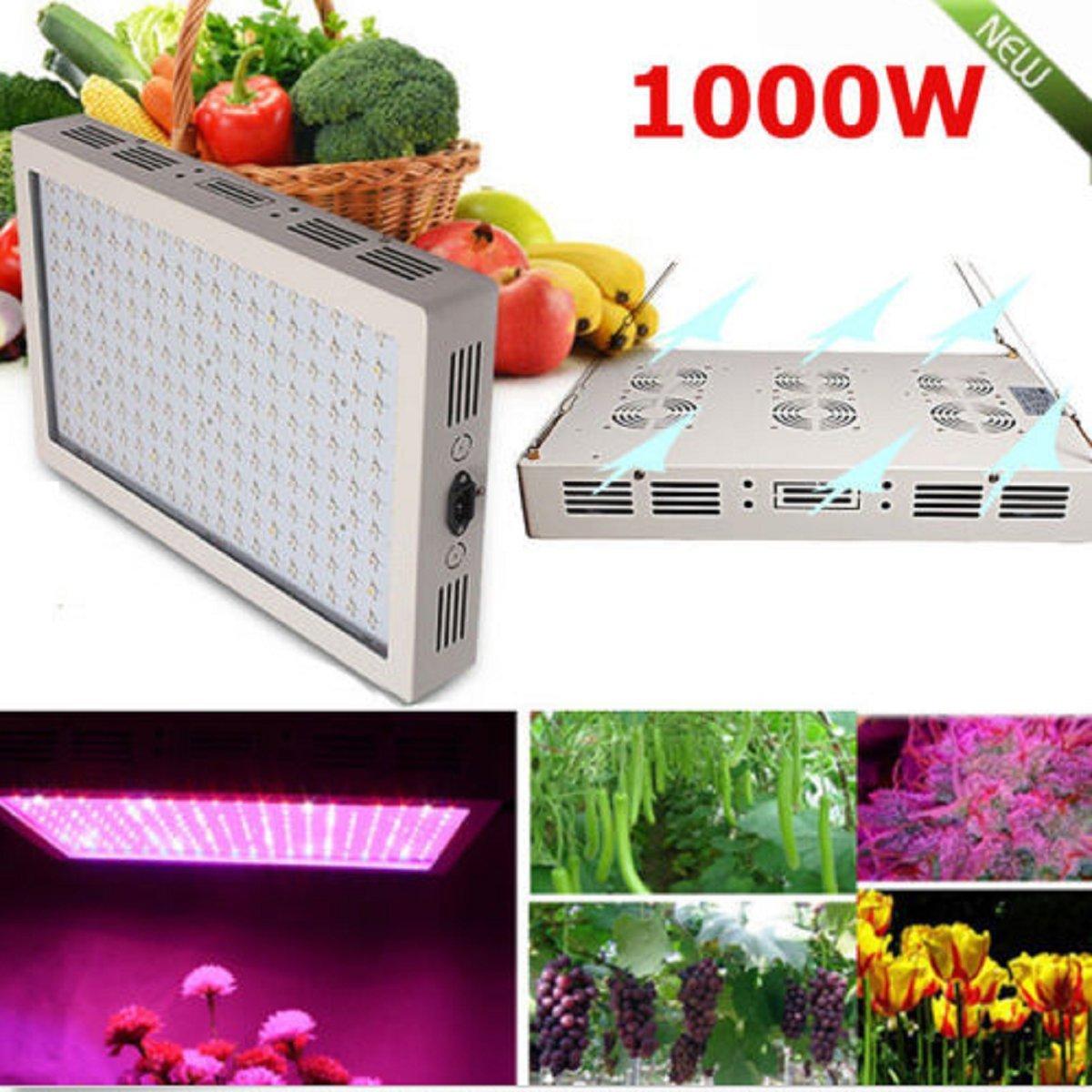 USA Premium Store 1000W Full Spectrum LED Grow Light dual Chip Medical Plant Veg Bloom Plant Panel by USA Premium Store