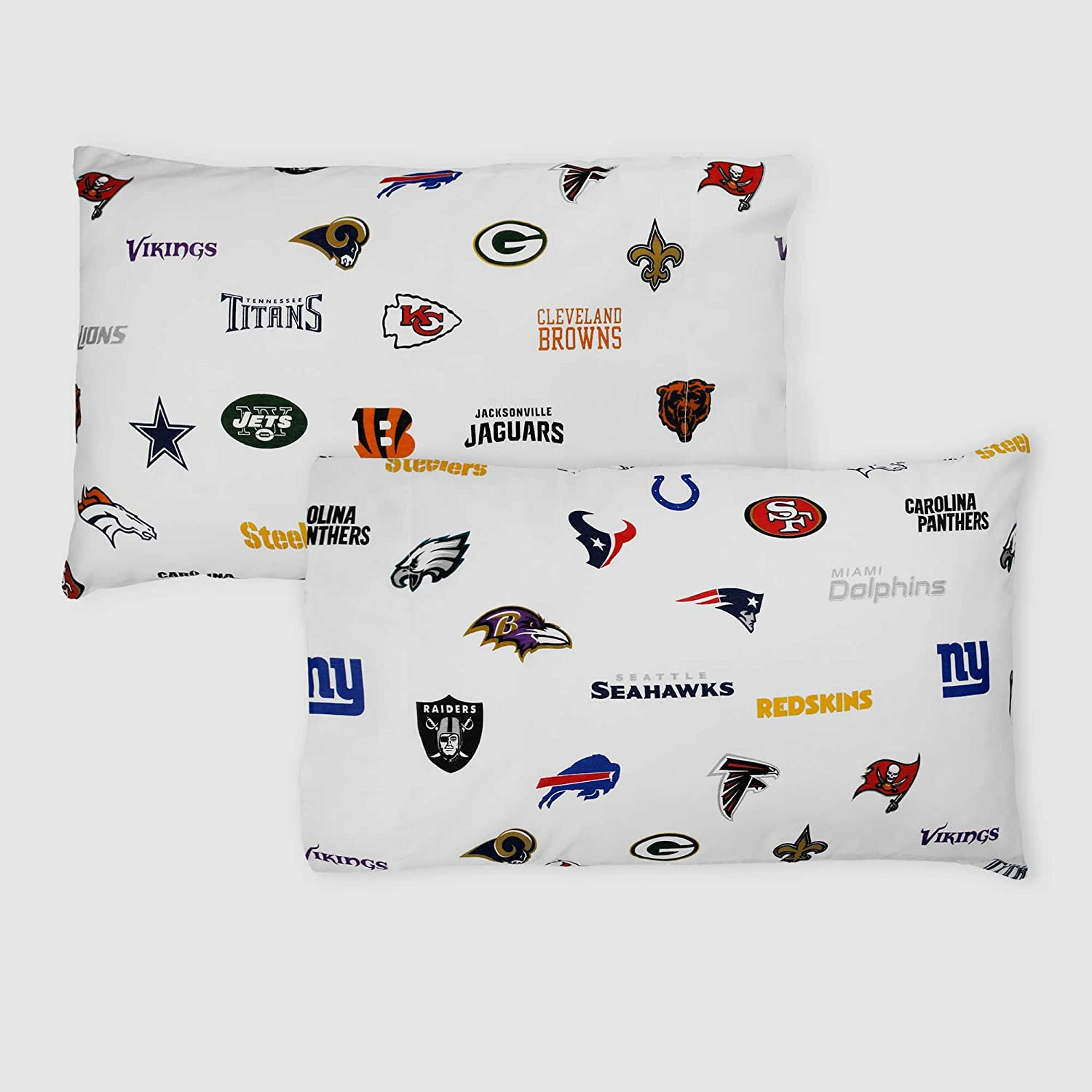 2pc NFL League Pillowcase Set Multiple Teams Football Bedding Pillow Covers