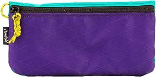 product image for Flowfold's Women's Large Zipper Pouch Wallet - Durable & Lightweight - Interior Organization - Vegan - Aqua/Purple