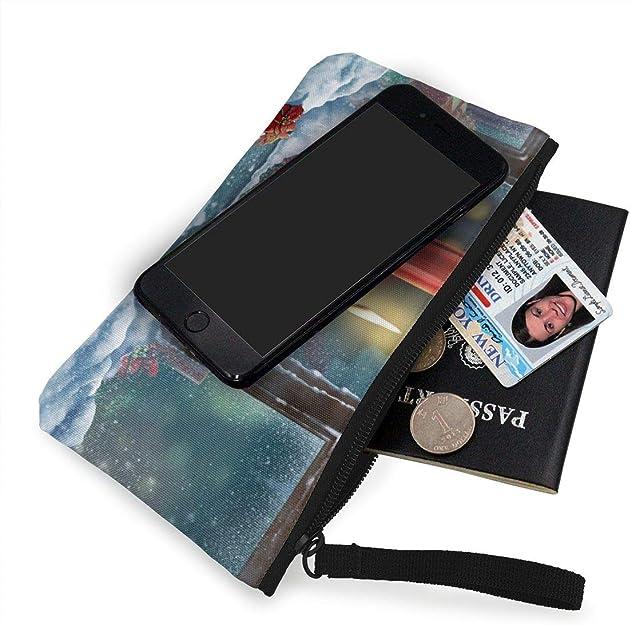 Canvas Cash Coin Purse,Blown In The Wind Print Make Up Bag Zipper Small Purse Wallets