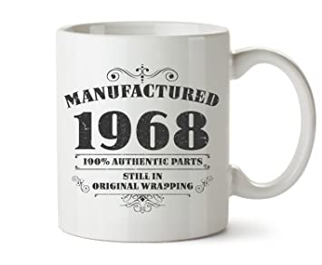 amazon com novelty printed mugs manufactured 1968 50th birthday