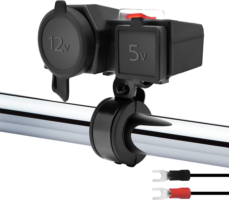 GoHawk Waterproof Motorcycle Dual USB Charger Kit
