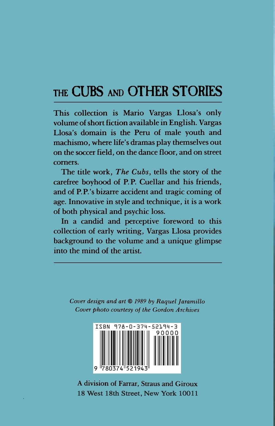 The Cubs And Other Stories: Mario Vargas Llosa: 9780374521943: Amazon:  Books