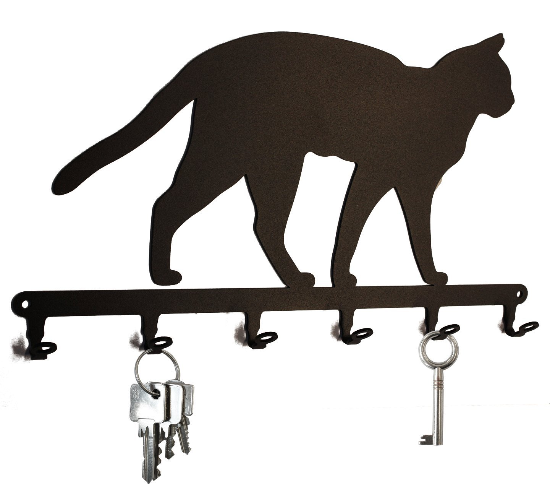 Tabla/Colgador de llaves * * Gato Siamés - Llave Board, colgador para llaves, llave plana, metal - 6 ganchos steelprint.de