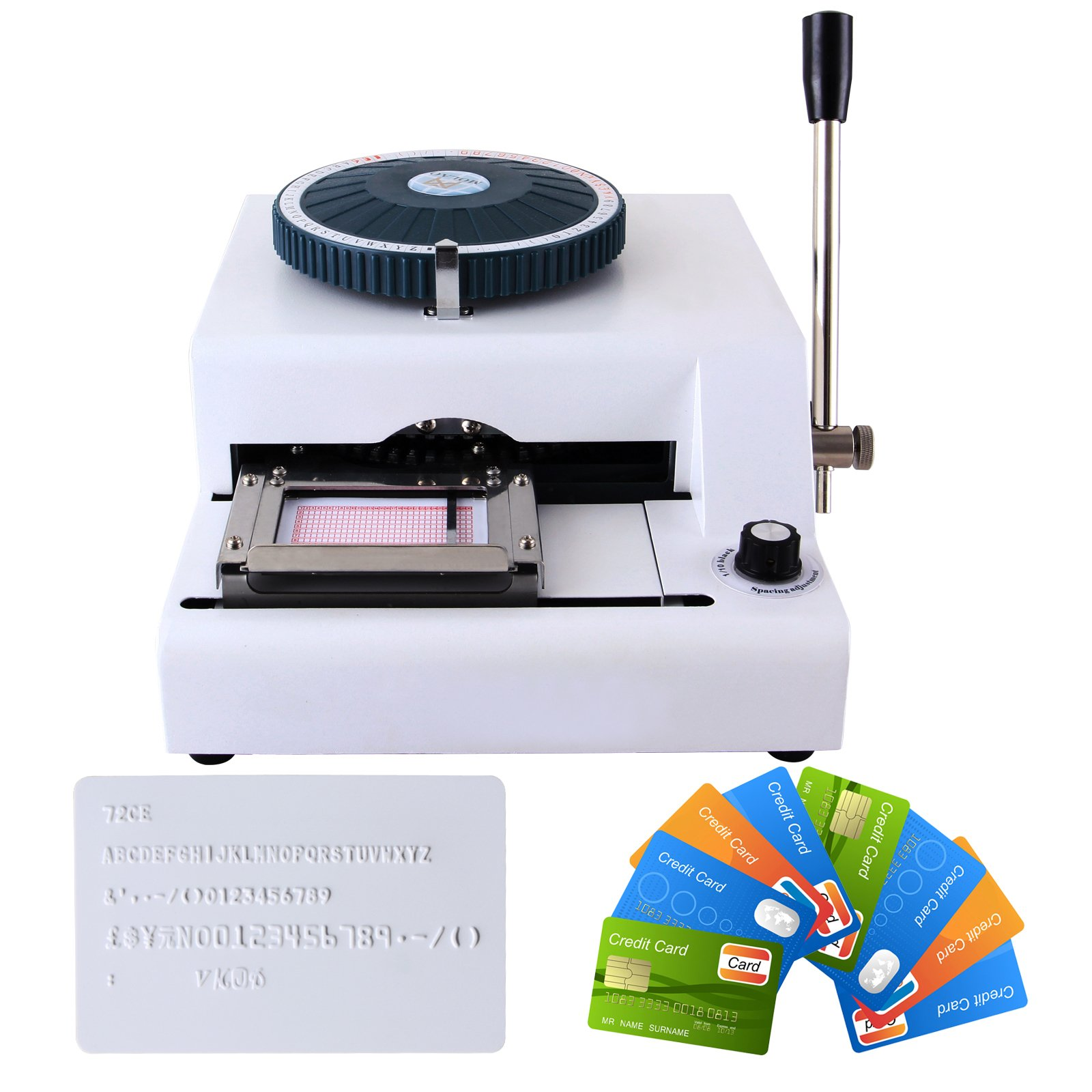 YHG Letter Manual Embosser Stamping Machine 72 Character PVC Credit Card Embossing