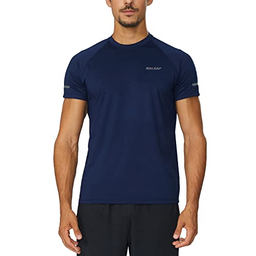 Baleaf Mens Quick Dry Short Sleeve T-Shirt Running Fitness Shirts