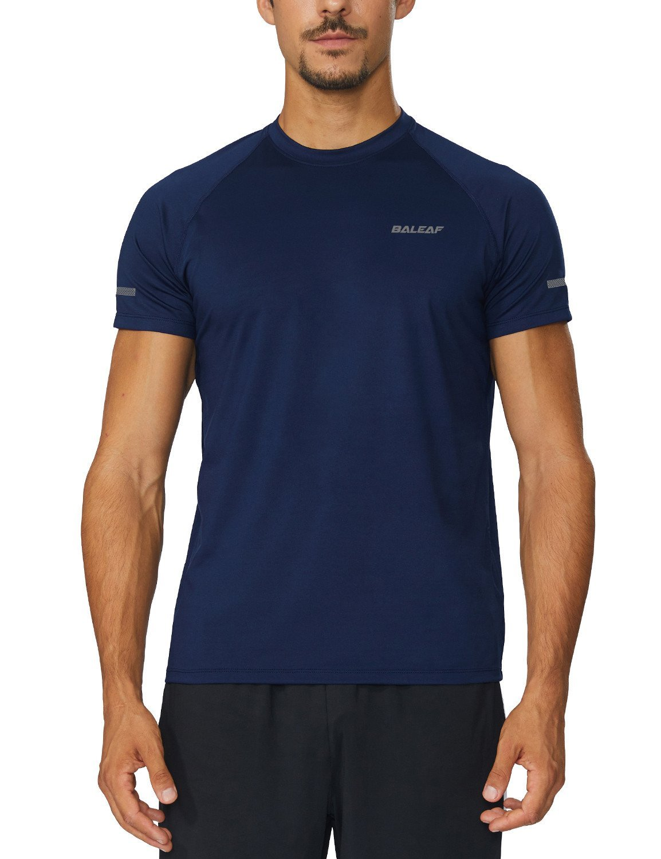 8247033fe94f Baleaf Men s Quick Dry Short Sleeve T-Shirt Running Fitness Shirts ...