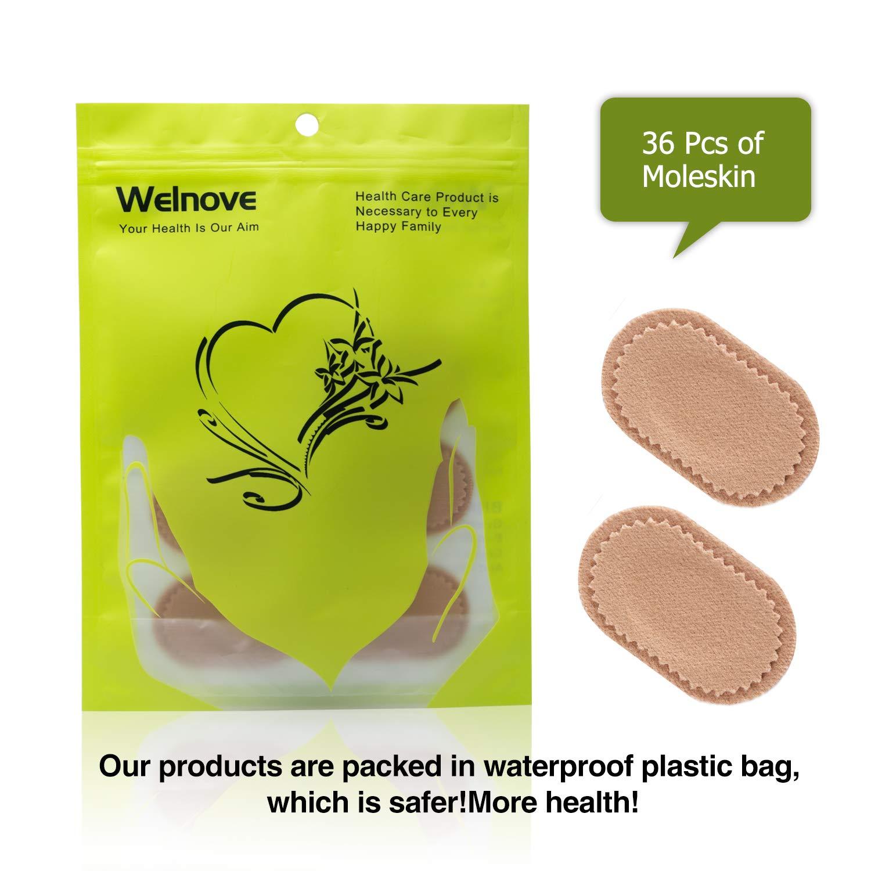 Welnove-Parches Callos Almohadillas para Ampollas-Alivio del Pies Dolor- Callos y Juanetes-35 uds Ovalados Parches hipoalergénicos protección: Amazon.es: ...