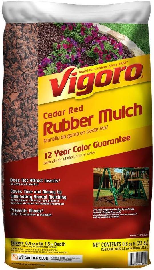 Vigoro Cedar Red Rubber Mulch