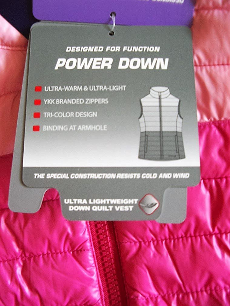 Free Country Girls Womens Blossom Down Quilted Body Warmer Gilet Pink Shades Lightweight