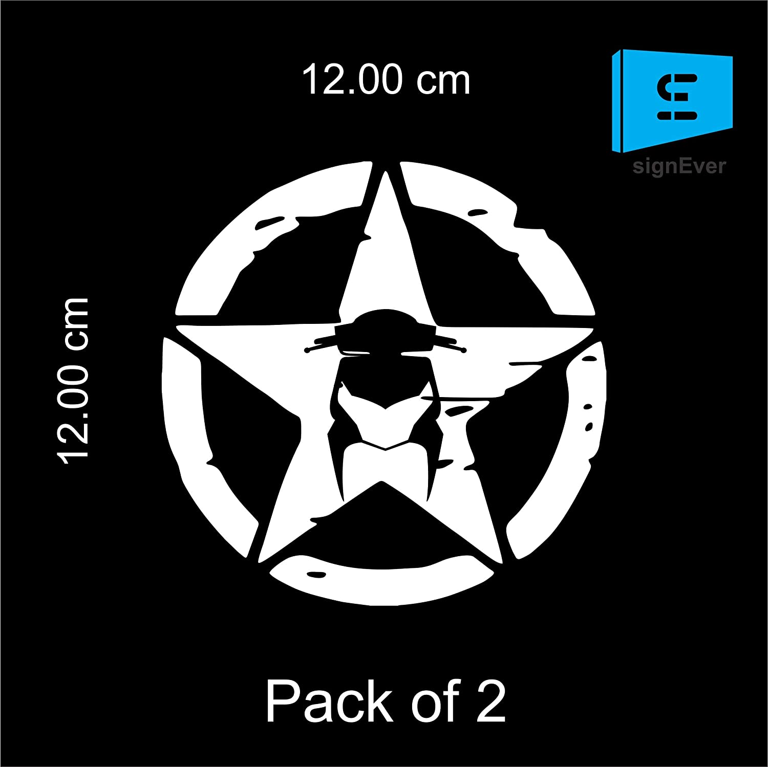 Sign ever white star honda dio stickers for bike scooty exterior decals l x h 12 x 12 cms amazon in car motorbike