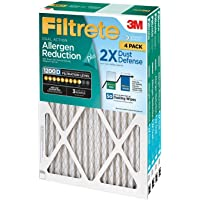 4-Pack Filtrete Dual-Action Micro Allergen Plus 2X Dust Filter