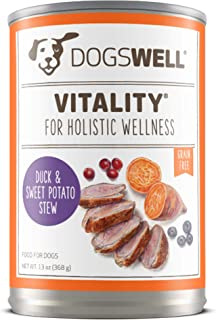 product image for DOGSWELL Vitality Wet Dog Food with Vitamins & Essential Fatty Acids, 12 cans, 13 oz