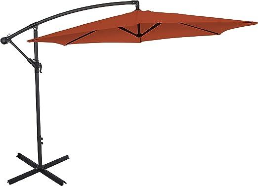 Ultranatura Parasol excéntrico, con manivela, apto como parasol para el jardín o sombrilla, muy grande y estable, terracotta: Amazon.es: Jardín