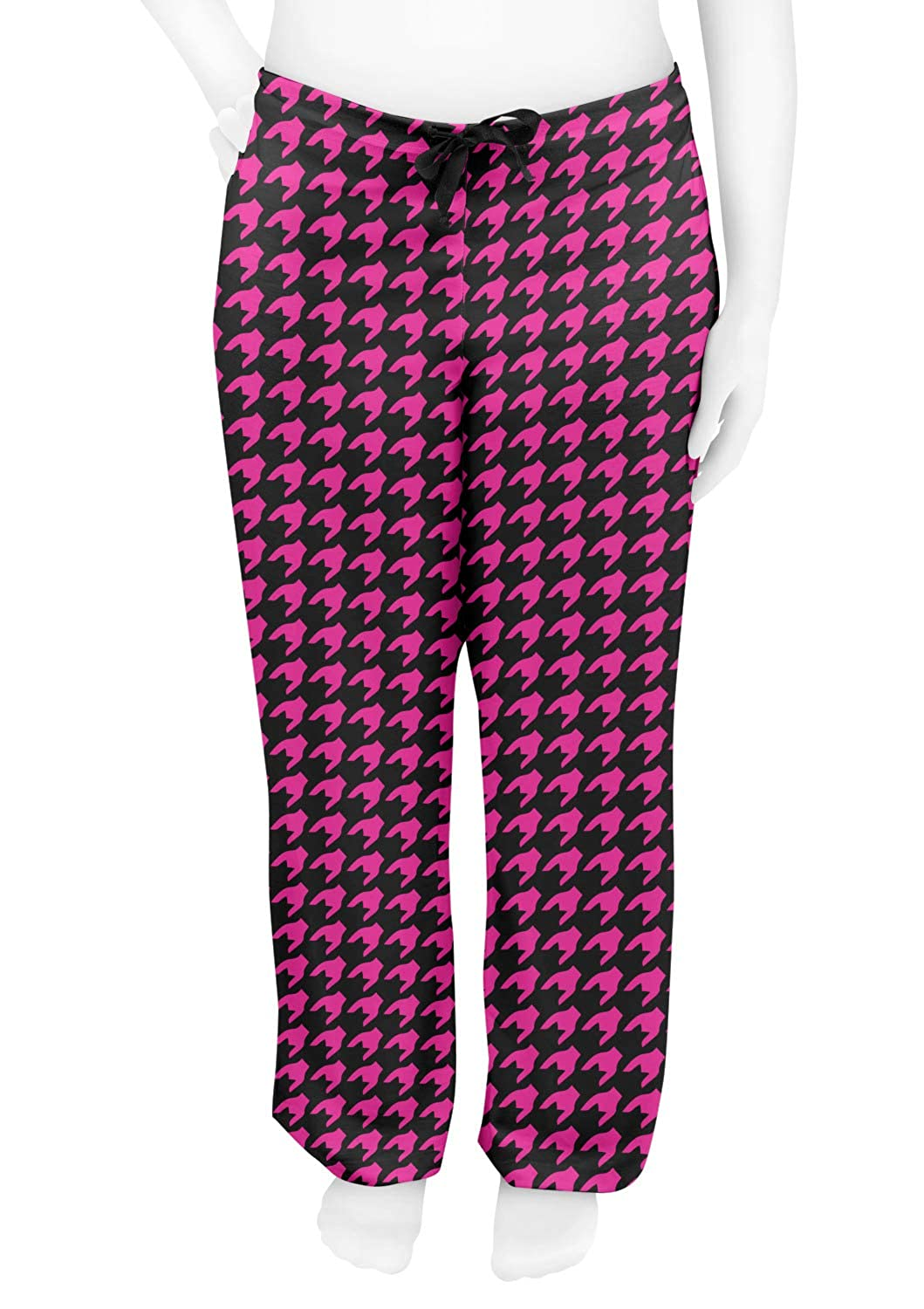 RNK Shops Houndstooth w//Pink Accent Womens Pajama Pants Personalized