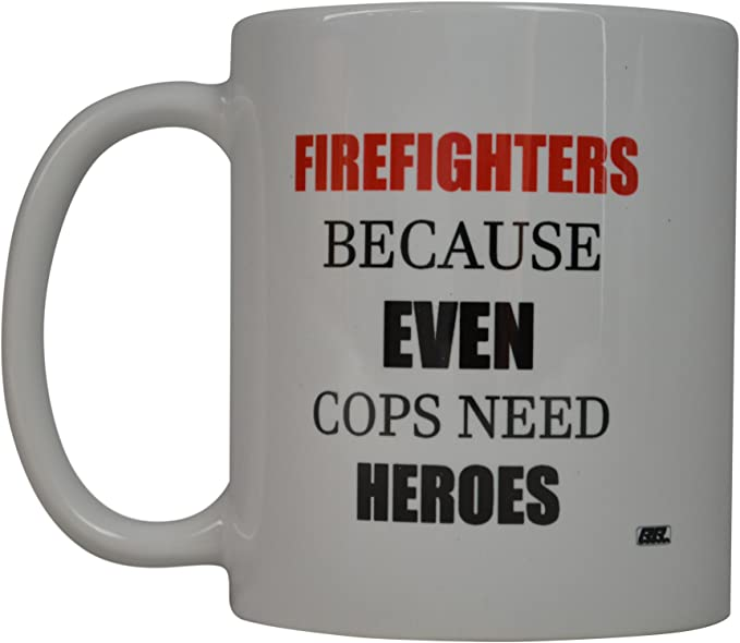 Just a Woman who Loves her Firefighter Mug Fireman Coffee Cup Gift for Her