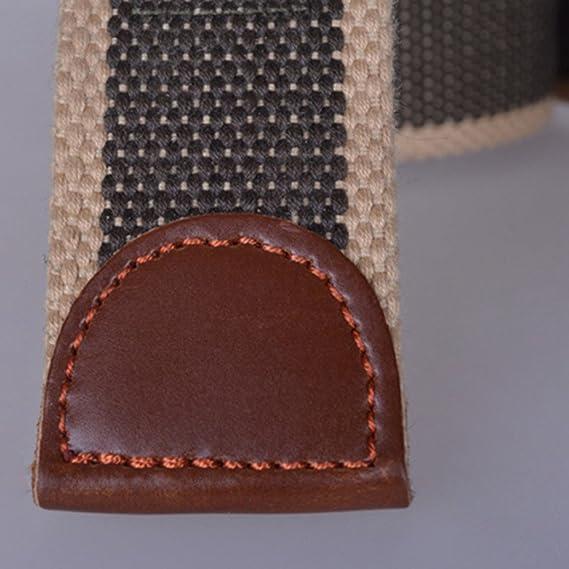 Panegy - Cinturón Hombre Estilo Militar Tactica Correa Lona de Cintura con Hebilla Plástica Automática - Verde - 120cm: Amazon.es: Ropa y accesorios