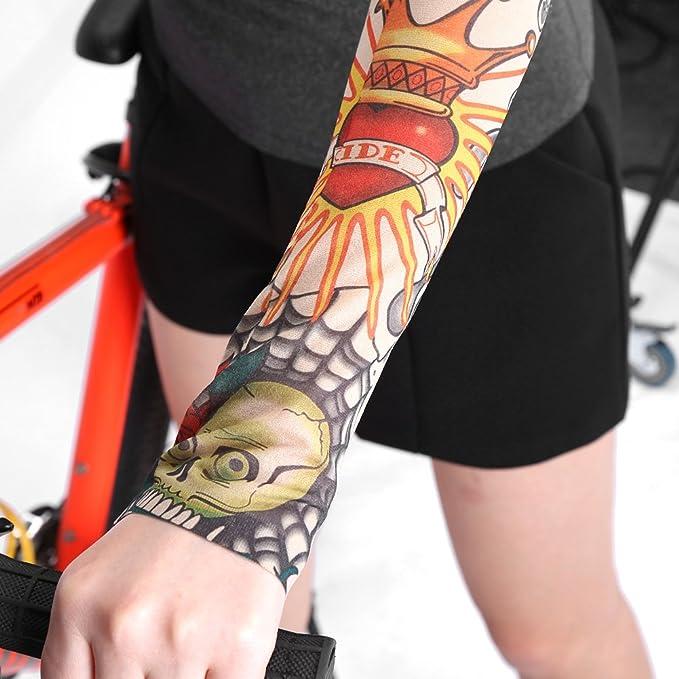 4 pares de mangas de tatuaje, 6 tipos para bicicleta de montaña y ...
