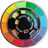 Langjitianya Creative Color Wheel Enamel pin, The Spinning Wheel Moves Nicely,Color Wheel Brooch