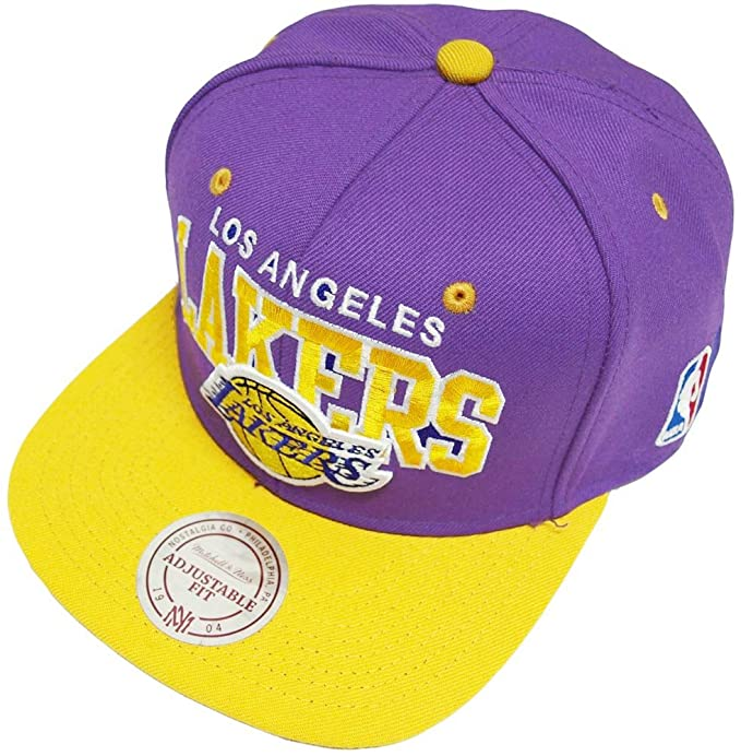 Mitchell   Ness and Los Angeles Lakers Purple NBA Team Arch Snapback Cap  NA80Z c9f8f3bc91e