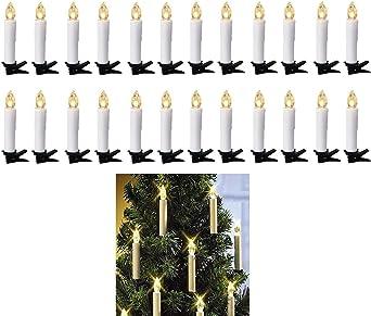 Amazon.com: Sin llama parpadeo led velas, vela té con clips ...